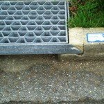 A new marking on a storm drain