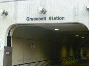 Greenbelt Metro north entrance