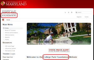 The <i>Other</i> College Park Foundation