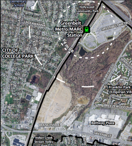 Greenbelt north and south core development areas