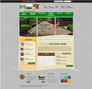 College Park's New Website