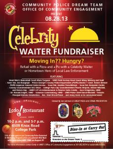 Celebrity Waiter Flyer