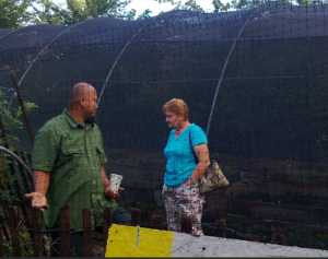 Christianne Williams (right) at a College Park farm