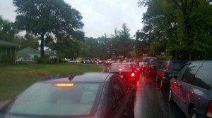 Traffic around Hollywood Elementary School