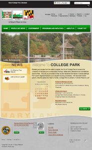 College Park's new website