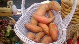 Sweet potatoes at the Hollywood Farmers Market