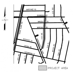 WSSC Work map on 51st avenue