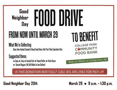 Good Neighbor Day Food Donation
