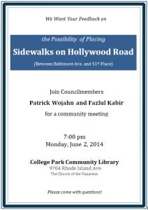 Hollywood Road Sidewalk Meeting June 2 2014