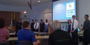 Presentation made by students on complete street study project