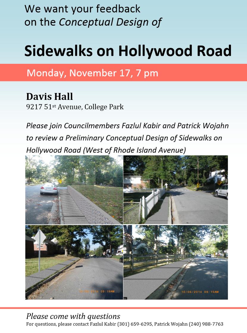 Hollywood Rd Sidewalk Meeting Nov 17 2014