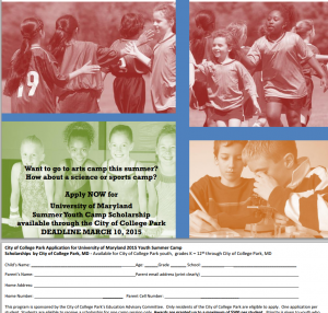 Summer camp 2015 scholarship