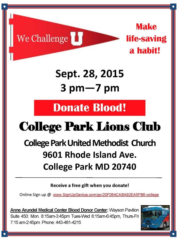 blood drive Sept 2015