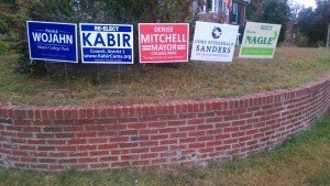 Election signs in Hollywood (District 1)