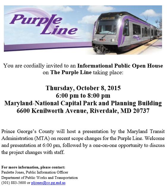 Purple line open house