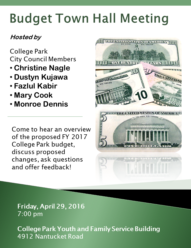 FY17 budget town hall flyer