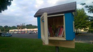 Little Free Library at Rhode Island Avenue near (MoM / REI stores)