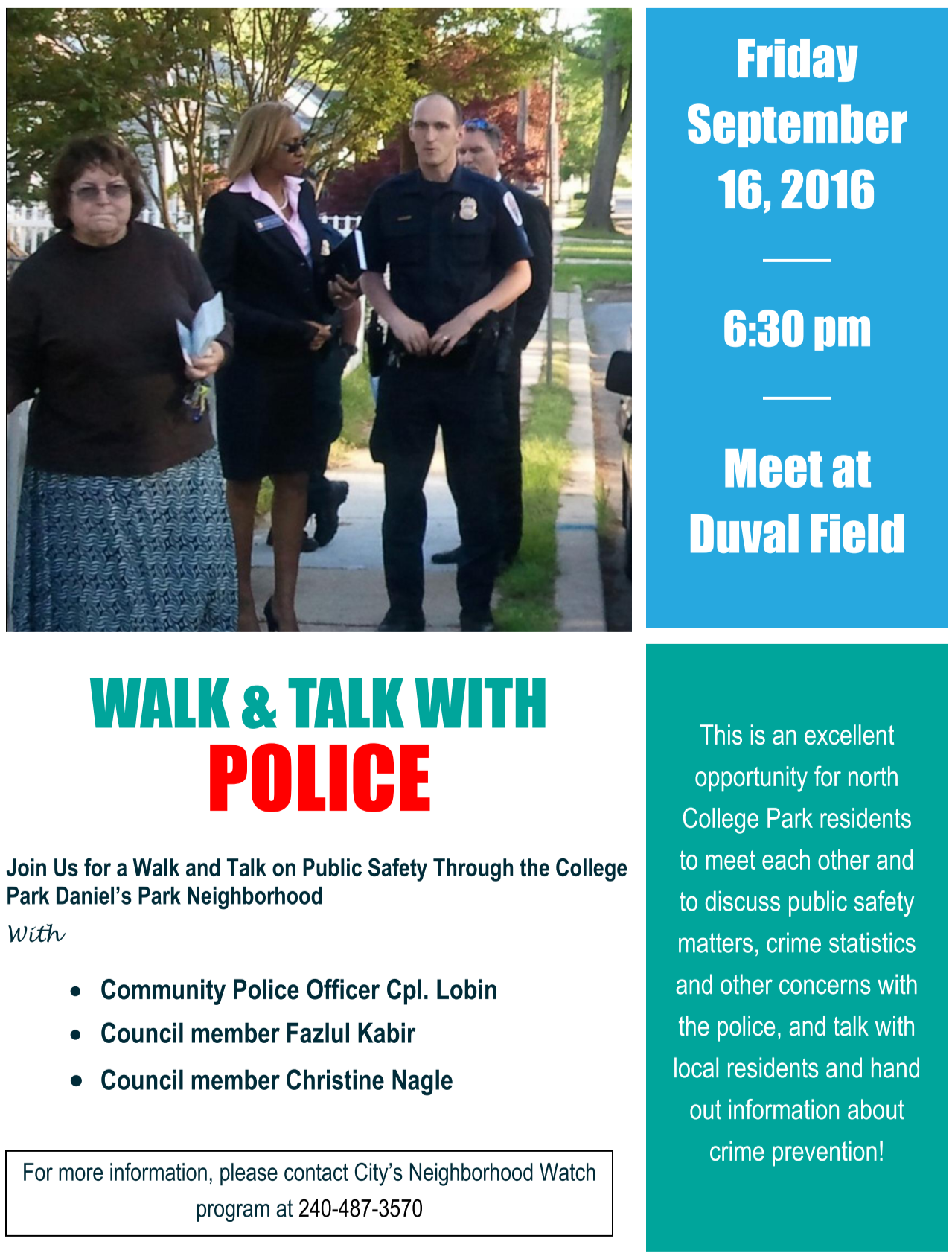 Walk n Talk Sept 16 2016